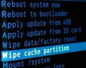 wipe cache partition