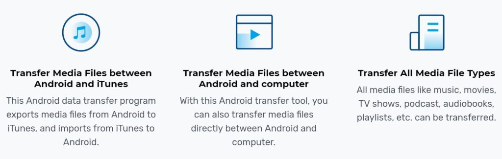Android media transfer features
