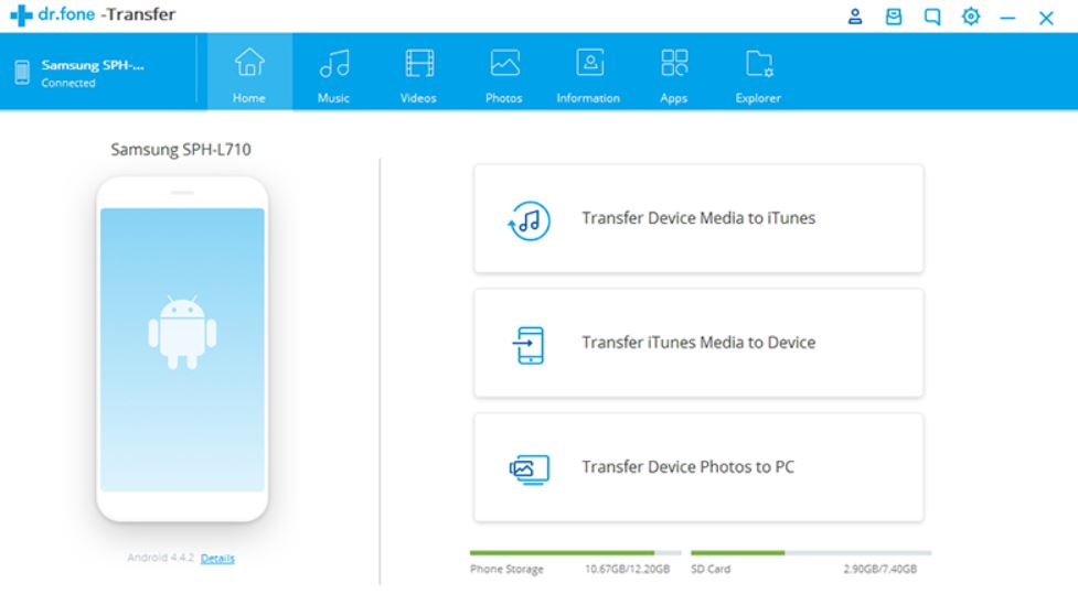 Transfer Android file