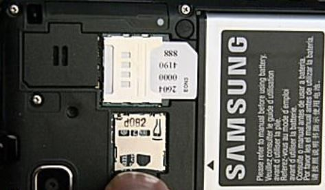 Remove SD card from samsung phone