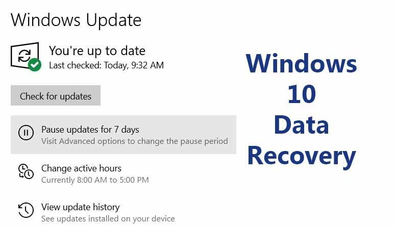 Recover Lost Data After Updating Windows 10 to Version 1903 or 1909