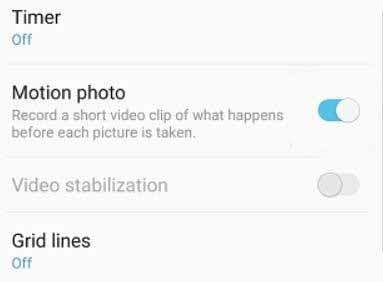 How to Enable and Disable Motion Photo on Samsung Galaxy phone