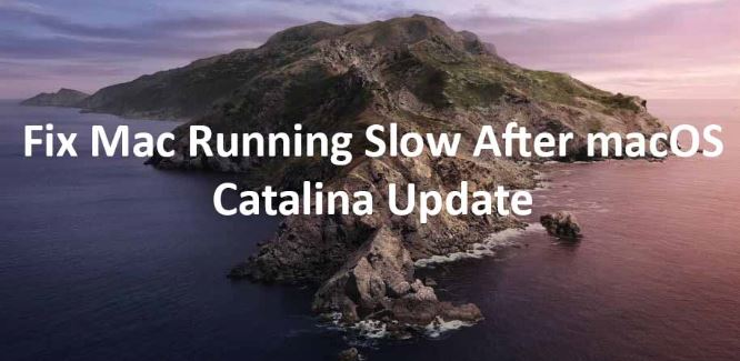 Fix Mac Running Slow After macOS Catalina Update