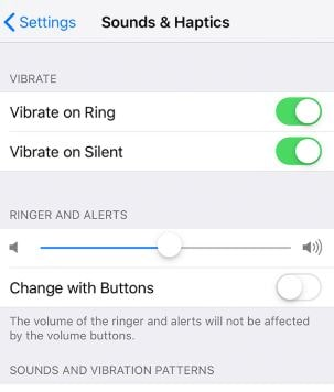 Turn off change with buttons on iPhone