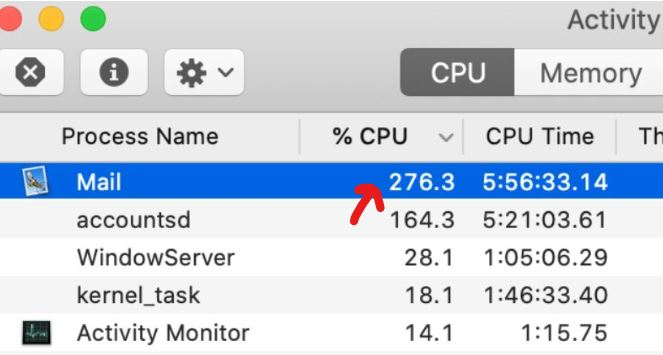 Fix High CPU Usage While Using Mail on macOS Catalina