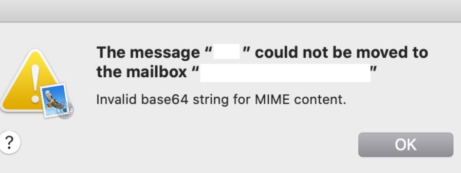 Invalid Base64 String for MIME Content on Mac
